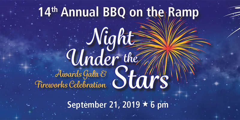 14th annual bbq on the ramp-night under the stars-awards gala and fireworks celebration, september 21 2019 at 6pm