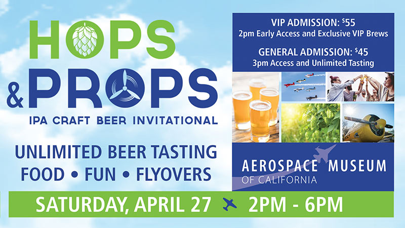 Hops and Props IPA Craft Beer Invitational Saturday April 27, 2019 2pm-6pm